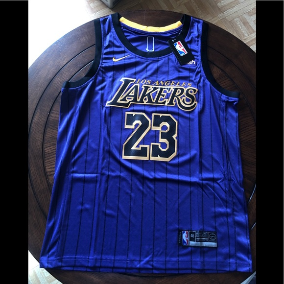 finest selection f7cf8 d98fa Brand new Lebron James lakers jersey city edition NWT